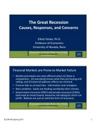 The Great Recession - University of Nevada, Reno