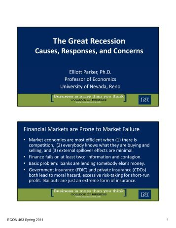 The Great Recession - University of Nevada, Reno