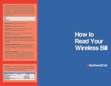 How to Read Your Wireless Bill