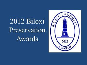 2012 Biloxi Preservation Awards