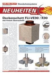 Deckenschott FLI-VE90 / K90 - AIR FIRE TECH
