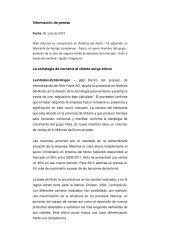 Información de prensa La estrategia de cercanía al ... - Roto Frank AG