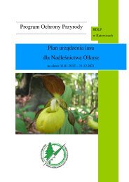 Program Ochrony Przyrody Plan urządzenia lasu dla Nadleśnictwa ...