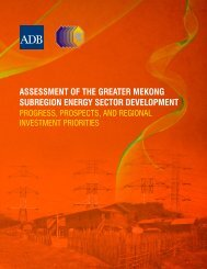 Assessment of the Greater Mekong Subregion Energy Sector ...
