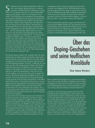 Über das Doping-Geschehen und seine ... - Kinder bewegen