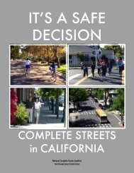 IT'S A SAFE DECISION - Smart Growth America