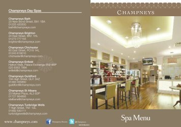 Download Price List PDF - Champneys