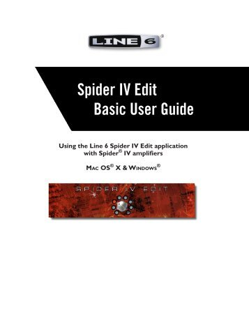 Line 6 Spider IV Edit Basic User Guide, English (Rev ... - zZounds.com