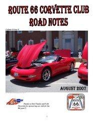 Volume 8 Issue 8 - Route 66 Corvette Club