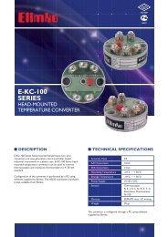 E-KC-100 Series Head-Mounted Temperature Converter - Elimko