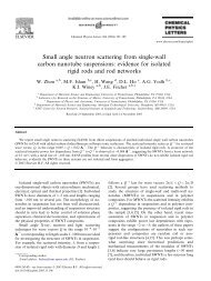 Small angle neutron scattering from single-wall carbon nanotube ...