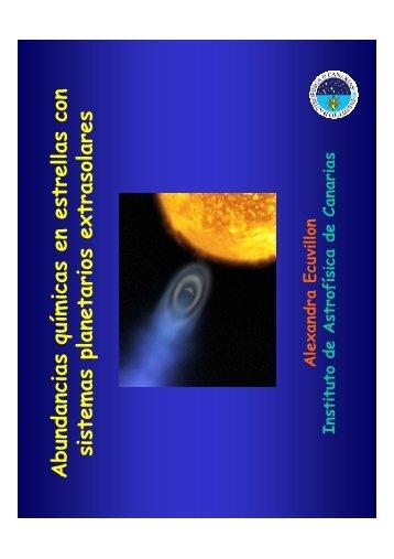 Abundancias químicas en estrellas con sistemas planetarios