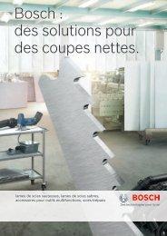 Bosch : des solutions pour des coupes nettes.