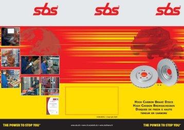 high carbon bremsscheiben - SBS
