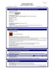 Sicherheitsdatenblatt - Cleanfix AG