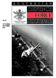 ISSUE 91 : Nov/Dec - 1991 - Australian Defence Force Journal