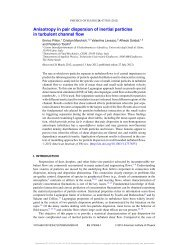 Anisotropy in pair dispersion of inertial particles in turbulent channel ...