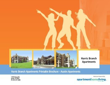 Harris Branch Apartments Printable Brochure ... - Apartments For Rent