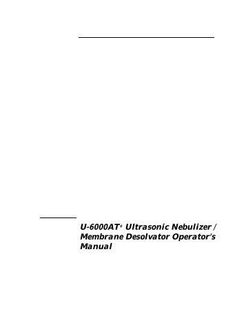 U6000AT+ Operator's Manual - CETAC Technologies