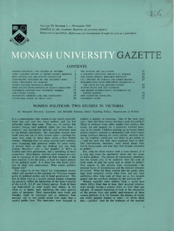 Volume 6 Number 1 - Adm.monash.edu - Monash University