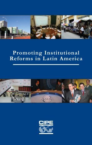 Promoting Institutional Reforms in Latin America - Center for ...