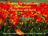 Science for Sustainable Development : Industrial and Rural