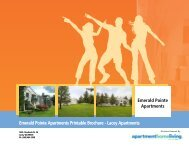 Emerald Pointe Apartments Printable Brochure - Apartments For Rent
