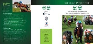 THE UFAS BETA NOPS CODE - British Horseracing Authority