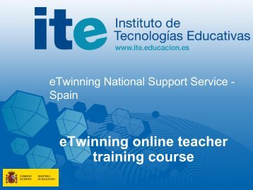 Spanish online teacher training course? - eTwinning