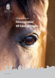Utvärdering av företagsstöd till hästnäringen - Länsstyrelserna