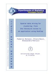 Spatial data mining for clustering: from the literature review to an ...