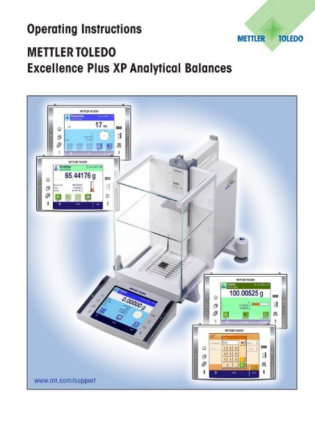 Overview of your excellence plus XP analytical     - Mettler