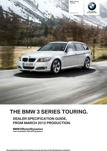 the bmw 3 series touring. dealer specification guide. from march ...