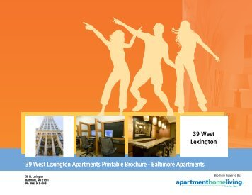 39 West Lexington Apartments Printable Brochure - Apartments For ...