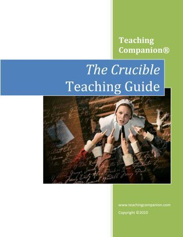 how to teach the crucible