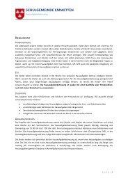 Reglement Hausaufgabenbetreuung.pdf - Schule Emmetten