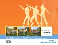 Woodcliffe Manor Apartments Printable Brochure - Apartments For ...