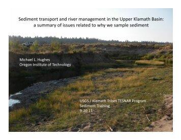 USGS Sediment Training Intro 9-20-11.pdf - USGS Oregon Water ...