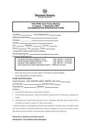 3 September 2004 ACCOMMODATION RESERVATION FORM - apnic