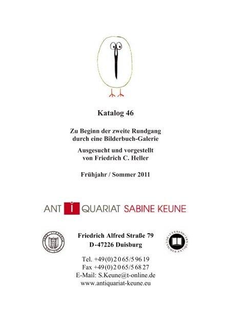 Pdf Datei Antiquariat Sabine Keune