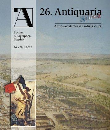 26. Antiquaria 2012 - Antiquaria-Ludwigsburg