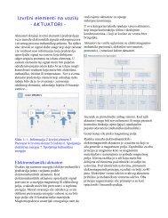 Izvršni elementi na vozilu - AKTUATORI - Elektromehanički aktuatori