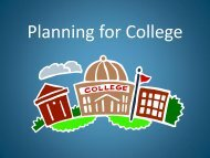 Planning for College - South River High School