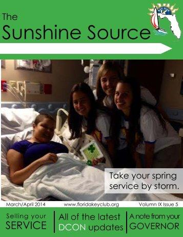 Florida Key Club's Sunshine Source Vol IX No 5 Mar-Apr 2014