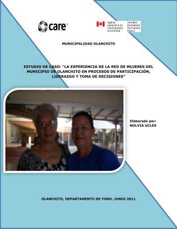 """ESTUDIO DE CASO: """"LA EXPERIENCIA DE LA ... - Pasos Honduras"""