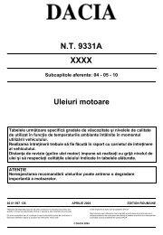 NT 9331A XXXX Subcapitole aferente: 04 - 05 - 10 ... - Dacia Club