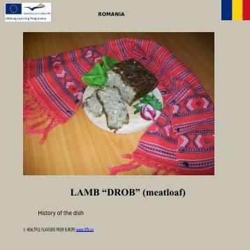 Lamb drob(meatloaf)