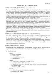 Allegato B PROGRAMMA DELLE PROVE DI ESAME 1 ... - Carabinieri