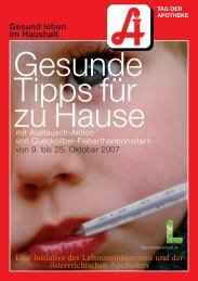 Gesund leben im Haushalt - Österreichische Apothekerkammer
