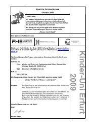 Post für Schlaufüchse - Erfurter Schulen - Informationsportal